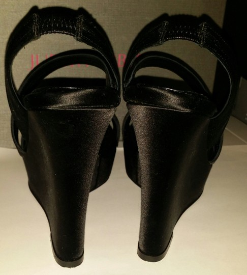 Judith Leiber Black Wedges Image 4