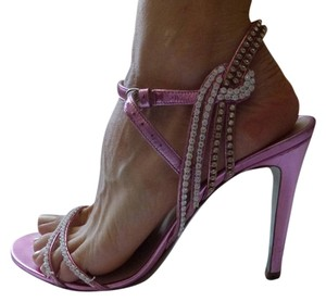 Emilio Pucci Lame'Kid Pink Sandals