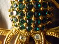 Other large octopus pin with emerald green rhinestones Image 9
