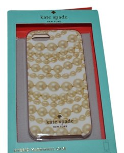 KATE SPADE NIB KATE SPADE HYBRID HARDSHELL CASE COVER BAG PEARLS FOR IPHONE 5 5S