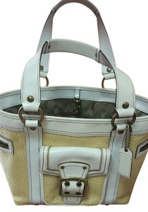 Coach Designer Satchel in White & Tan