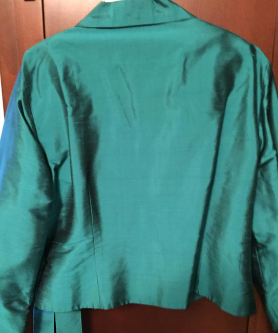 Lord & Taylor Silk Polyester Top Blue Emerald Image 4
