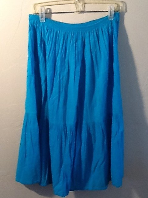 De Weese Design Skirt Turquoise Image 10