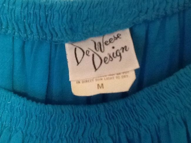 De Weese Design Skirt Turquoise Image 2