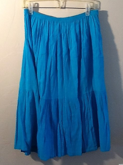 De Weese Design Skirt Turquoise Image 3