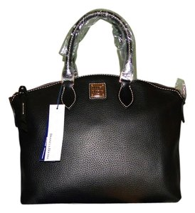 Dooney & Bourke Pebble Leather Satchel in Black