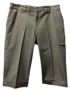 Izod Stretch Cropped Pants Capris Olive Green