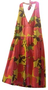 Trina Turk short dress Floral Pink/Yellow on Tradesy