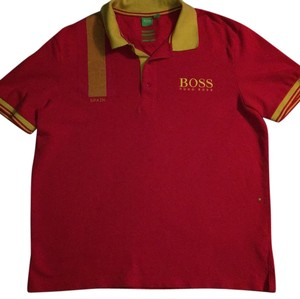 Hugo Boss T Shirt Red/ yellow