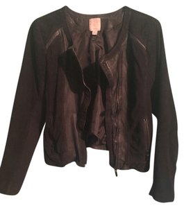 Halogen Suede Leather Black Jacket