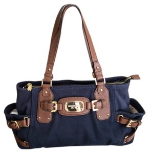 Michael Kors Denim Leather Straps Shoulder Bag