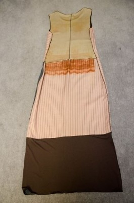 Black, Brown and Tan Maxi Dress by Rozae Nichols