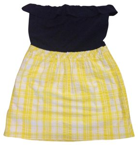 Lilly Pulitzer short dress Navy/Yellow Gingham on Tradesy
