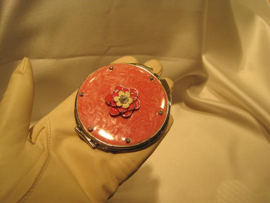 Other Mirror Compact; Embellished Pink Floral - [ Roxanne Anjou Closet ]