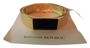Banana Republic NEW Banana Republic Hinged Bangle with Black Enamel Stone Inlay