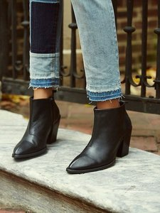 Free People Fp X John Fluevog Entrance Room 406 Sz 9 Black Leather Heavy Leather Boots