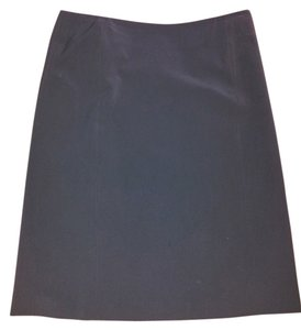 Theory Side Zipper Princess Seams No Waistband Skirt Black