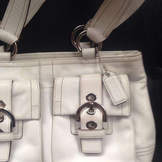 Coach Satchel in White Image 2