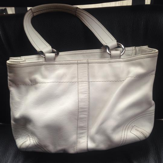 Coach Satchel in White Image 3