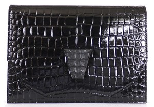 Saint Laurent Handbag Flap Rare Black Clutch