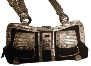 Pepe Jeans Satchel in Black/silver