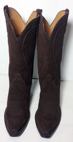 Lucchese 1883 Suede Size 6.5 Brown Boots Image 1