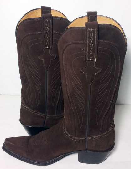 Lucchese 1883 Suede Size 6.5 Brown Boots Image 2