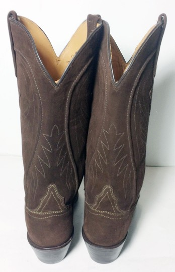 Lucchese 1883 Suede Size 6.5 Brown Boots Image 6