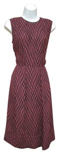 Marni Italy Sleeveless Print Pleated Career Dress
