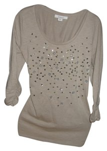 Style & Co Rhinestones T Shirt taupe