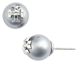 Tory Burch Tory burch Evie Pearl Stud Earrings SILVER