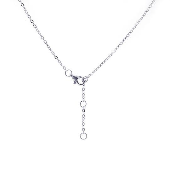 Avital & Co Jewelry 925 Sterling Silver Necklace Fish Bone Pendant With Cz Stone Gift Idea Image 4