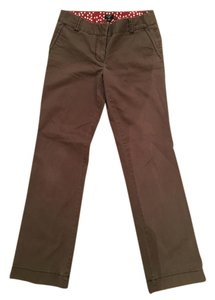 J.Crew City Fit Relaxed Pants Brown