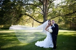 White Long 2 Tier Cathedral Length Bridal Veil