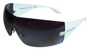 Versace VERSACE Sunglasses White Frame 2054 Black w/ Grey gradient lenses