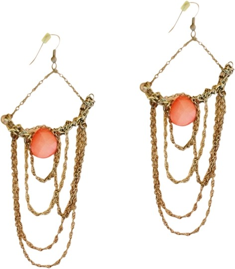 Preload https://img-static.tradesy.com/item/14498350/apartment-9-peach-and-gold-chain-chandelier-earrings-0-3-540-540.jpg
