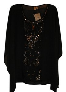 1 Madison Studded Top BLACK AND GOLD SEQUINS