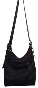 Coach Monogram Fabric Leather Shoulder Bag