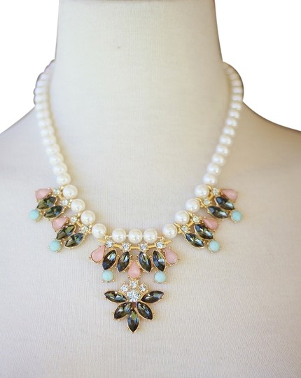 Preload https://img-static.tradesy.com/item/14498875/mossimo-supply-co-blue-and-pink-stones-w-pearl-statement-necklace-0-1-540-540.jpg