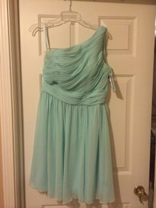 Mori Lee Mint Chiffon 204150 Formal Bridesmaid/Mob Dress Size 10 (M)