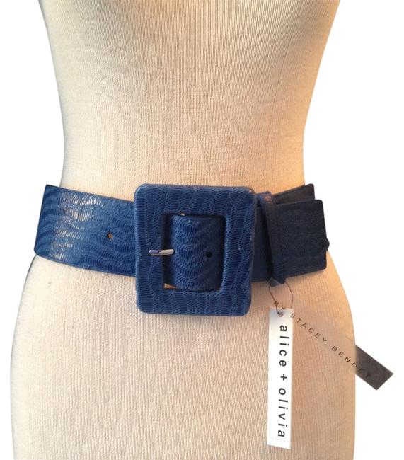 Item - Bright Navy By Stacey Bendet Polished Lizard Size S. Belt