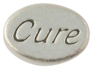 Cure Sign Oval Bead Charm - Sterling Silver 925 Medical Jewelry Making