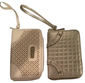 Jessica Simpson Wristlet in Winter White And Gold