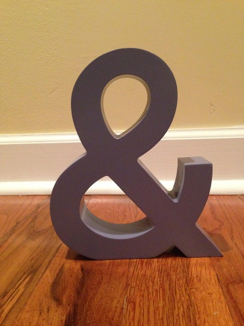"""Item - Lilac Light Purple / Ampersand """"And"""" Sign"""