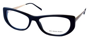 Burberry Black and Brushed Gold Burberry Eyeglasses New