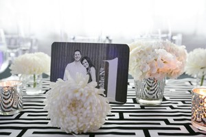 Cb2 Table Number Holders/vases