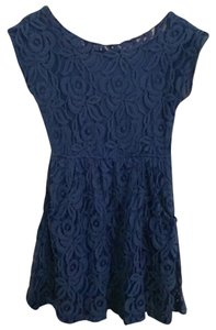 Love, Fire short dress Blue on Tradesy