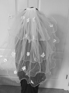 Hand Made Multi Layered Swarovski Silk Petal Veil