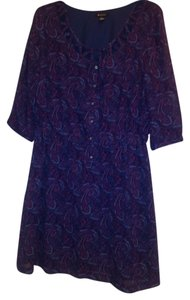 I Heart Ronson short dress purple, blue, multi on Tradesy