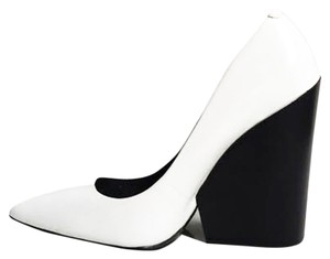 Zara Wedge Celine Leather White Wedges